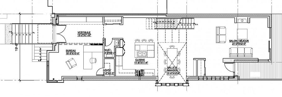 Floor plan of Residence Landsowne in Westmount, Montreal