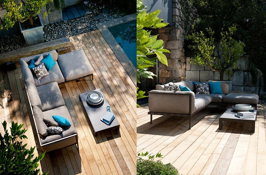 Gorgeous Natal Alu Sofa on the patio deck