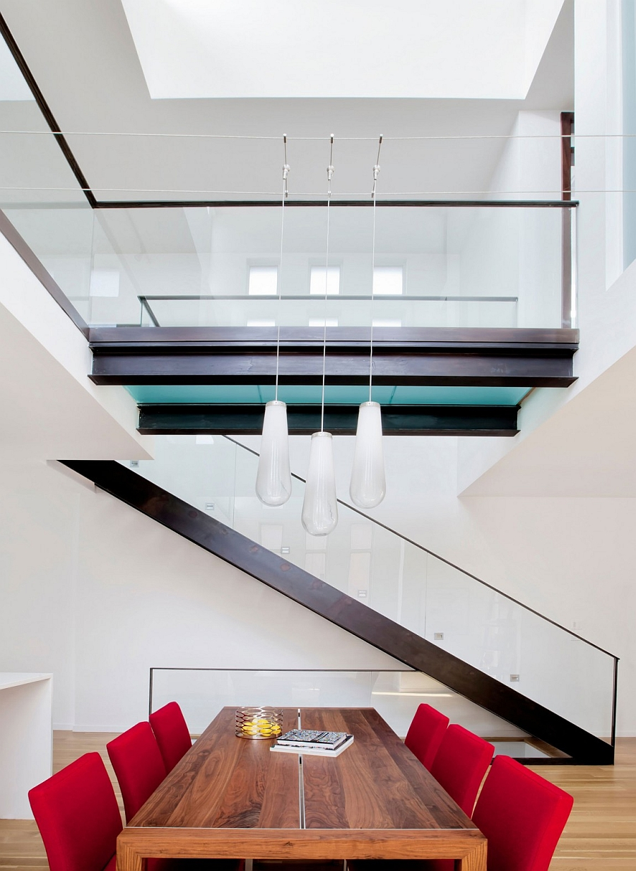Interior of the contemporary residence crafted by Arts and Crafts and Neo-Gothic styles