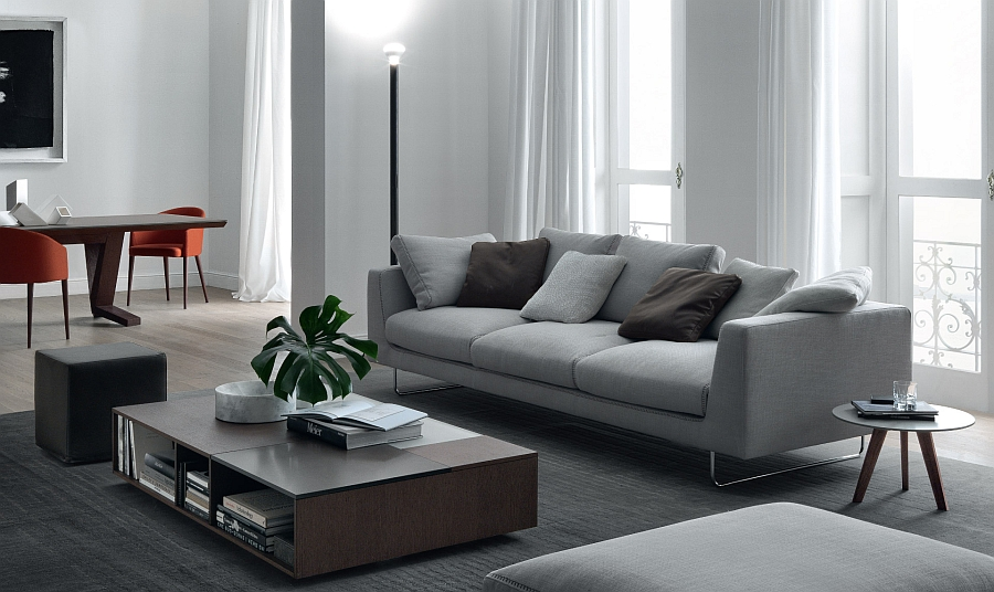 Smart blend of coffee tables in the living room
