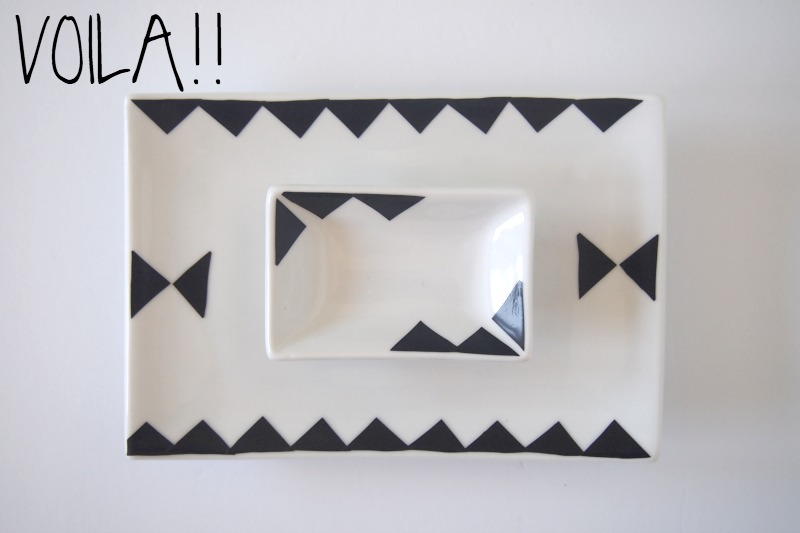 Snazzy geometric pattern for jewelry tray with electric tape