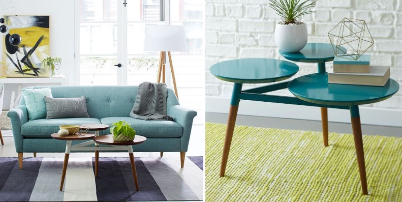 Teal and gold selections from West Elm