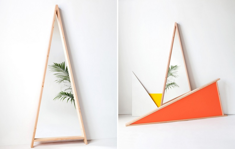 A-framed Mirror from Moving Mountains
