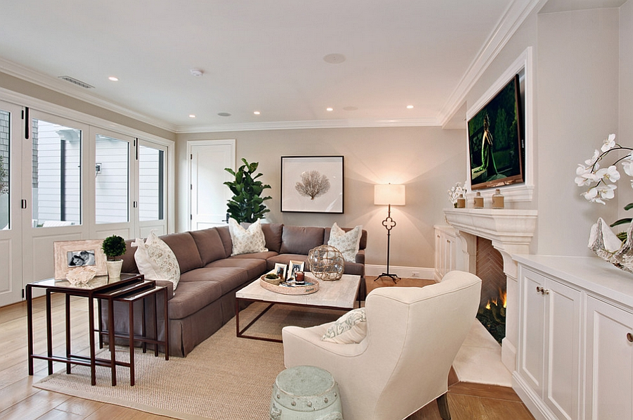 Beach style living room with a relaxed ambiance
