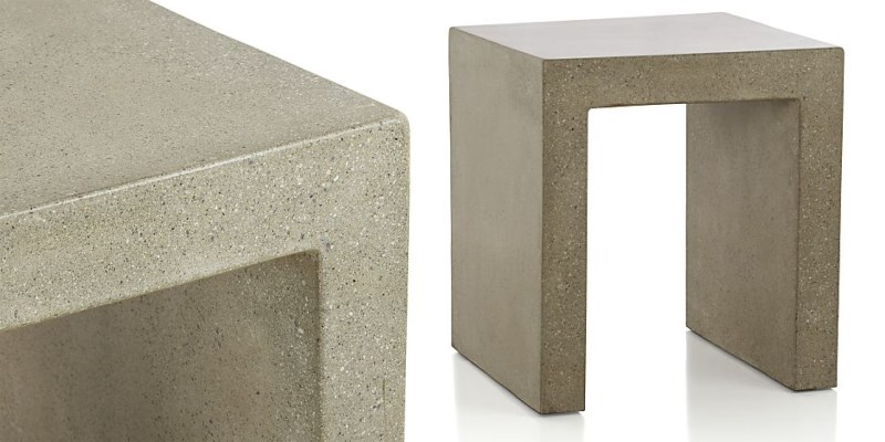 Concrete side table from Crate & Barrel