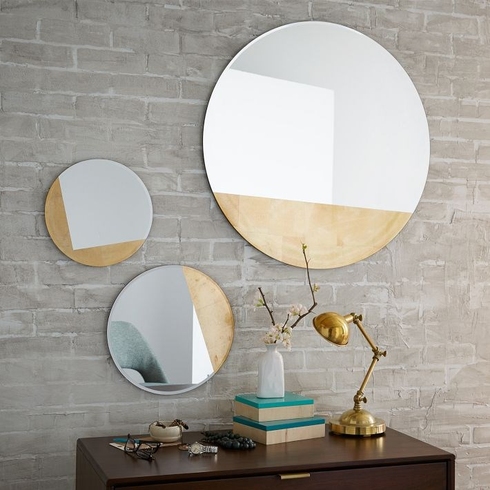 Geo mirrors with gold detailing