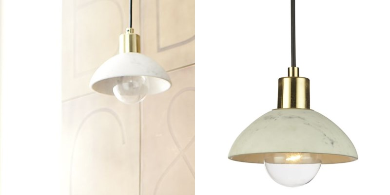 Marble pendant lighting from Crate & Barrel