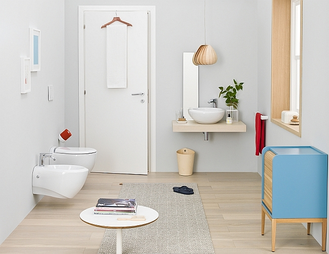 Small modern bathroom with relaxed ambiance