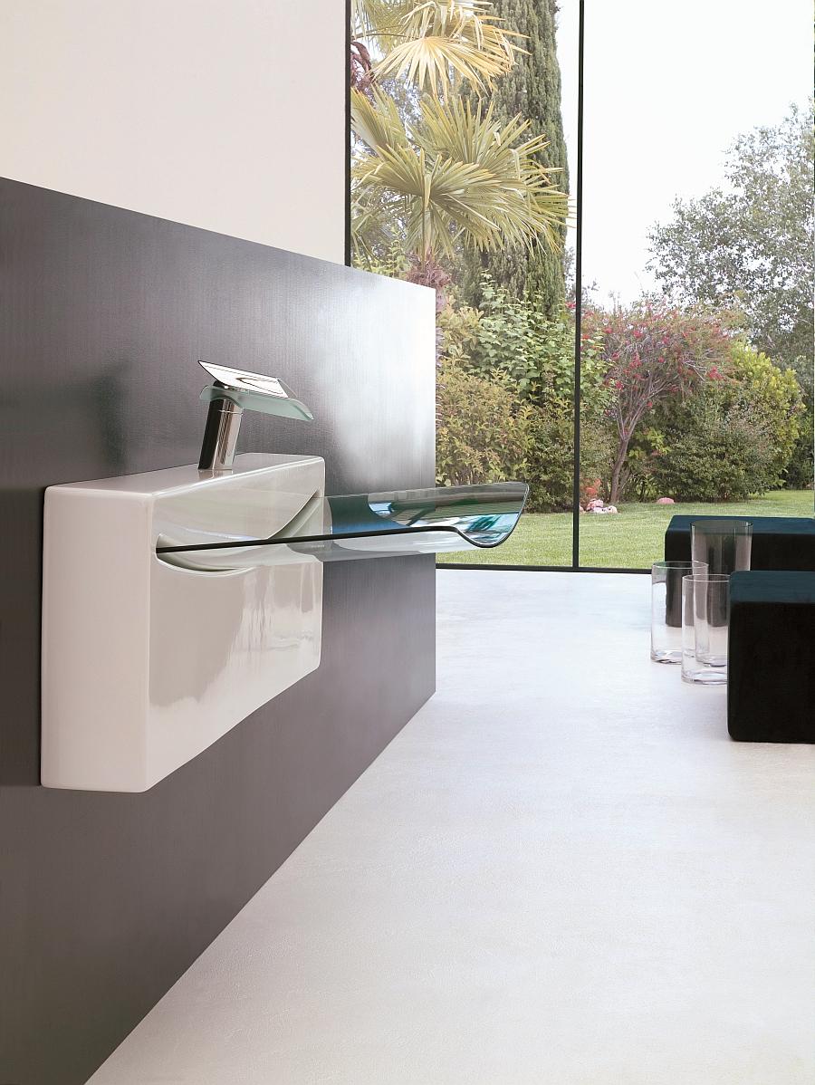 Ultrasleek washbasin for the minimal bathroom