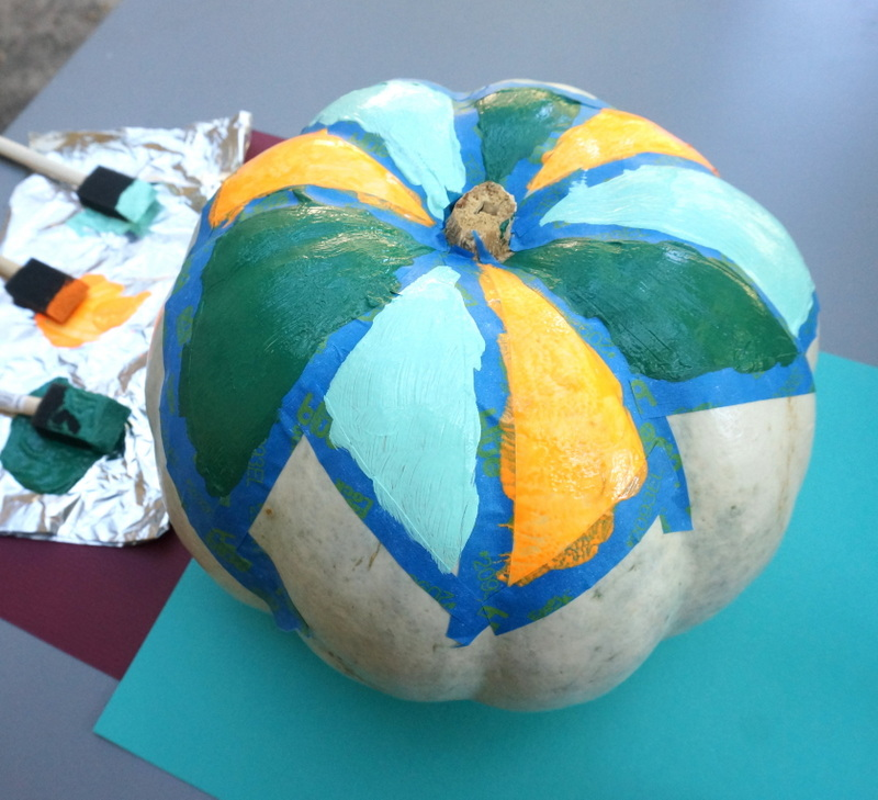 A painted pumpkin
