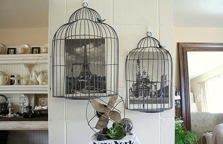 Birdcages give the living room a Tunisian touch [Design: Jennifer Grey Interiors]