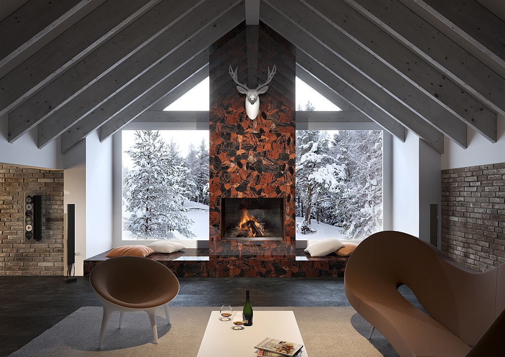 Fireplace and the window seating next to it truly look spectacular