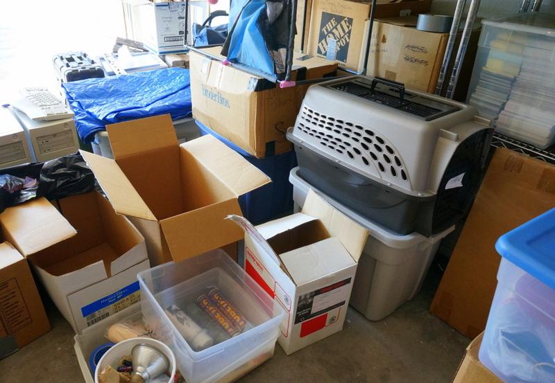 Floor clutter was a roadblock to our garage sale