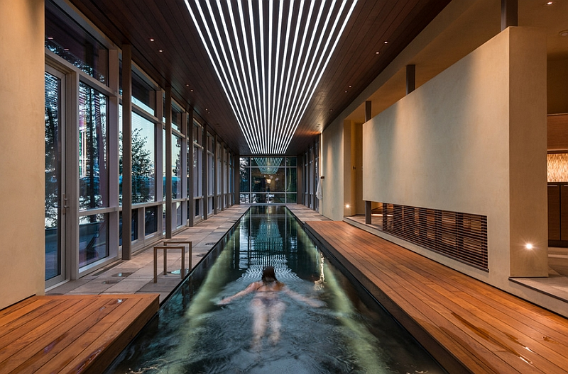 Indoor swimming pool of the stylish house