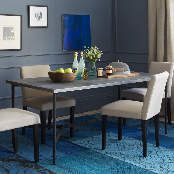 Vibrant blue rug from West Elm