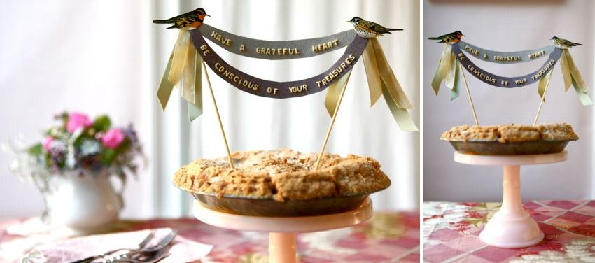 Alphabet pie topper from Oh Happy Day