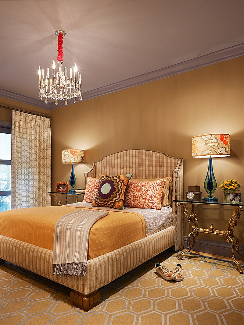 Bedroom design that pays homage to David Hicks!