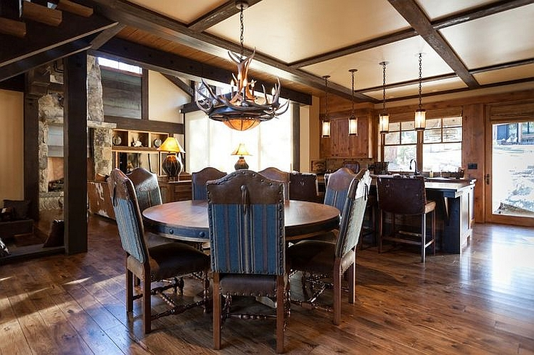 Classic cabin style interiors combined with modern comfort