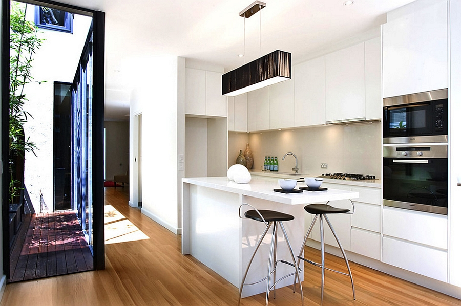 Contemporary kitchen makes most of the small space [Design: ORBIS design]