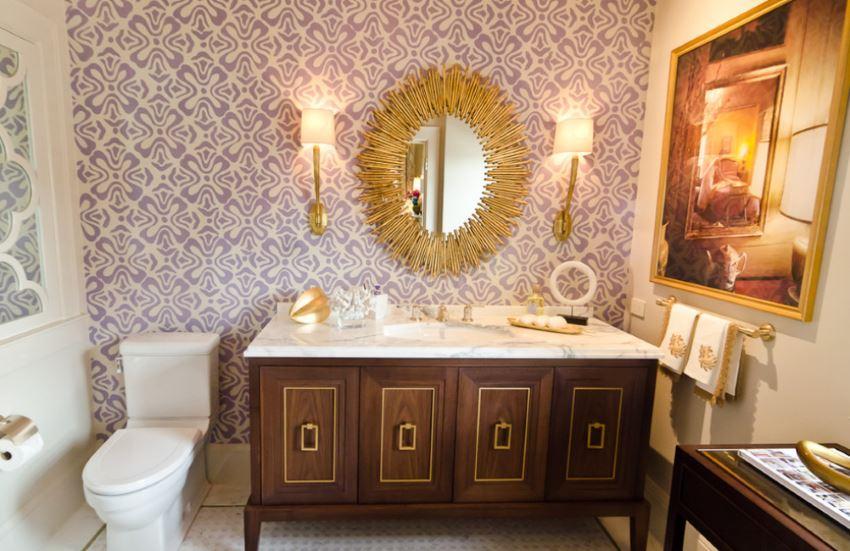 Crisp and clean designer bathroom