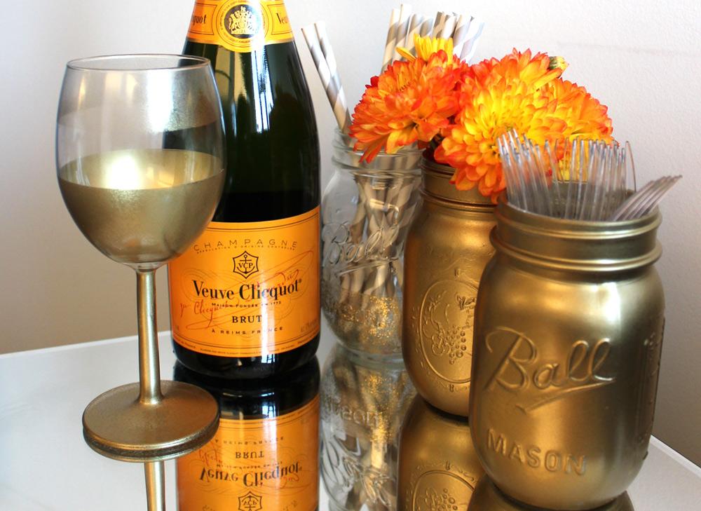 DIY Gold Wine Glass
