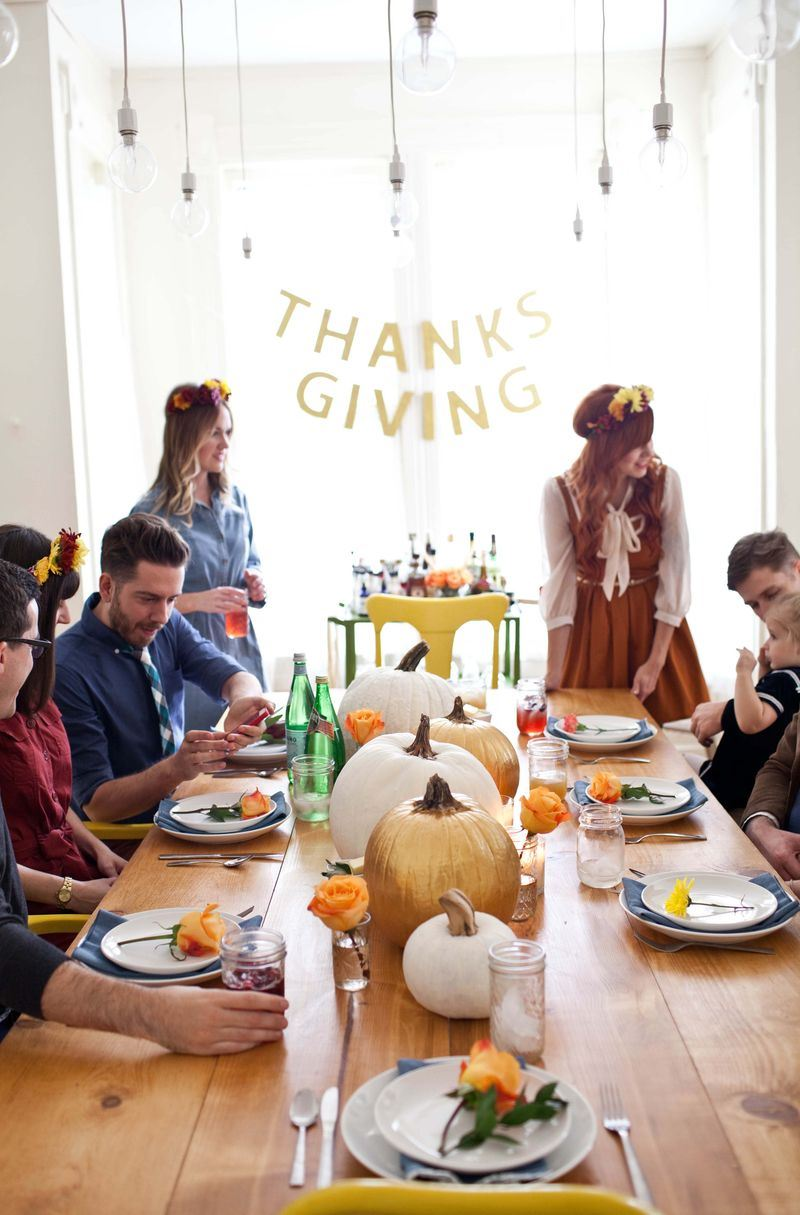 Friendsgiving celebration from A Beautiful Mess