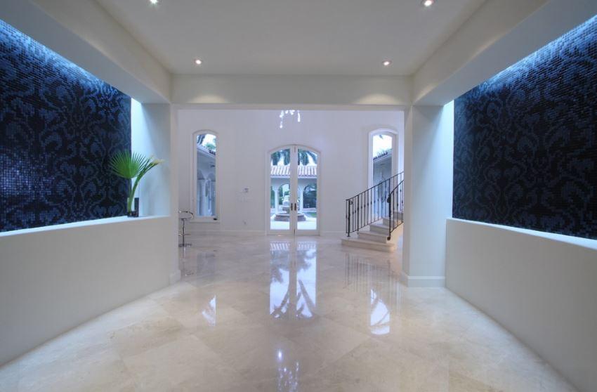 Gleaming marble floor