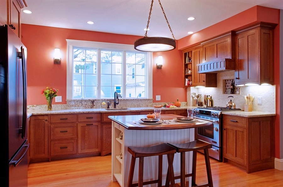 Large kitchens can also benefit from small islands [Design: CW Design]
