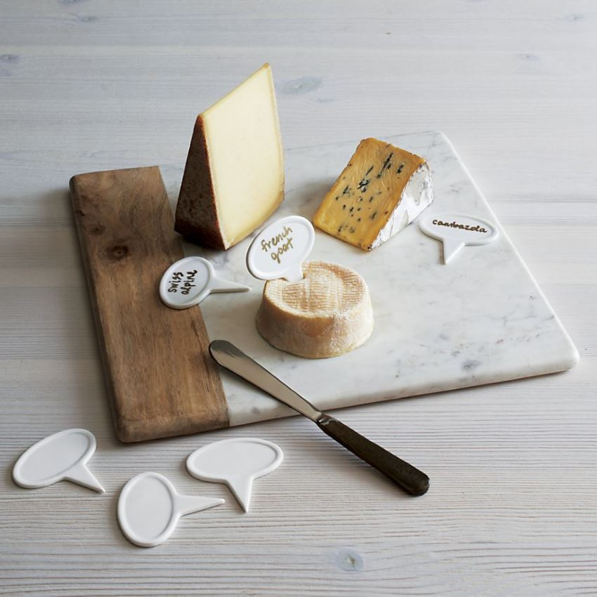 Marble and wood cheese platter from Crate & Barrel