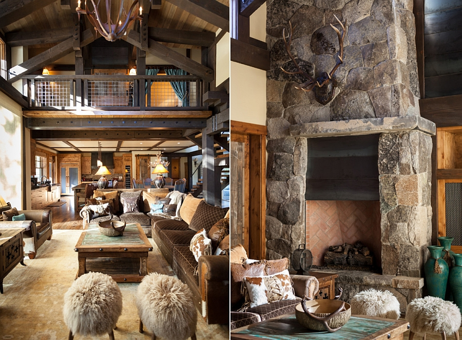 Reclaimed materials give the home a cozy, aged look