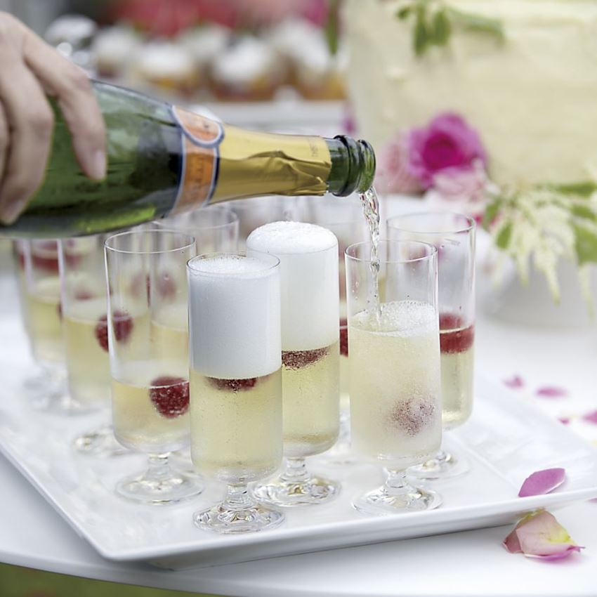 Sparkling wine glasses from Crate & Barrel