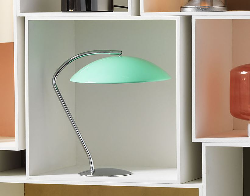 Aqua table lamp from CB2