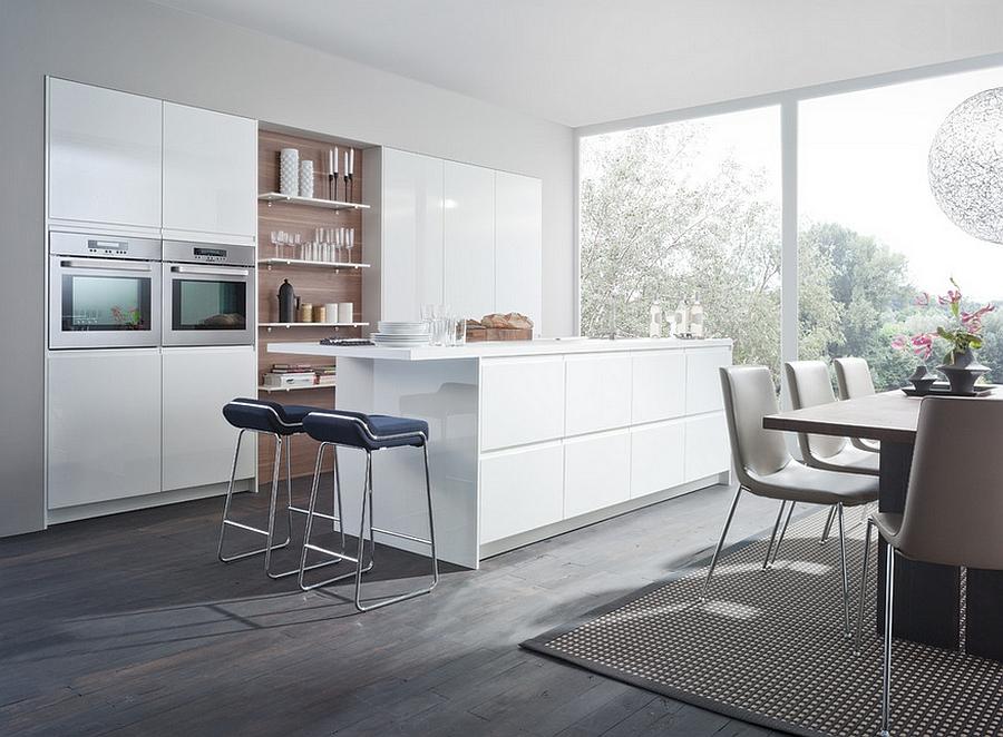 Beautiful all-white modern kitchen