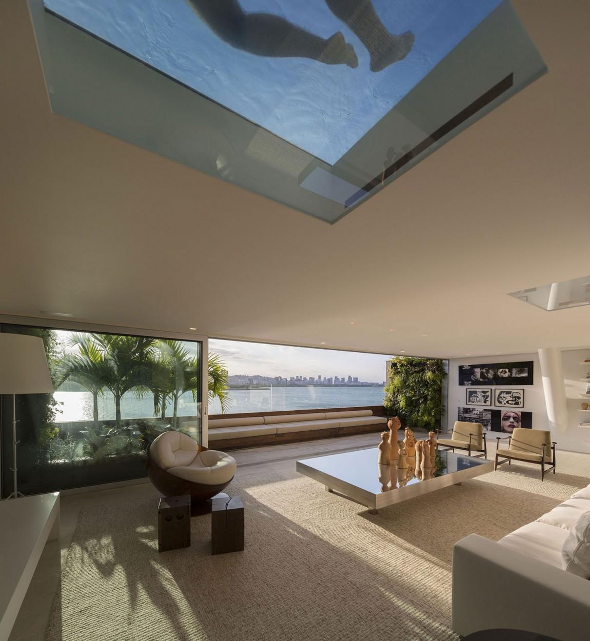 Beautiful ocean views from the elegant living room