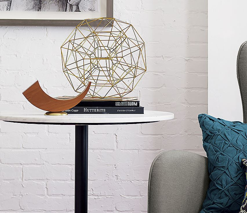 Brass geo sculpture from CB2
