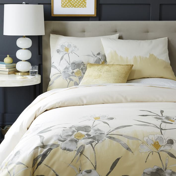 Floral duvet cover from West Elm