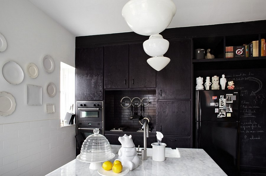 Give your kitchen a sophisticated dark backdrop