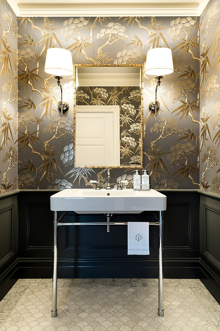 Gold is one of the hottest colors of the season [Design: Karen Aston Design]