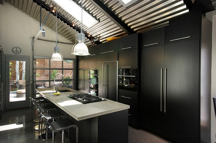 Loft-like design of the kitchen adds to its fabulous appeal