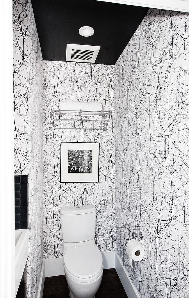 Midcentury powder room makes smart use of space [Design: Regan Baker Design]