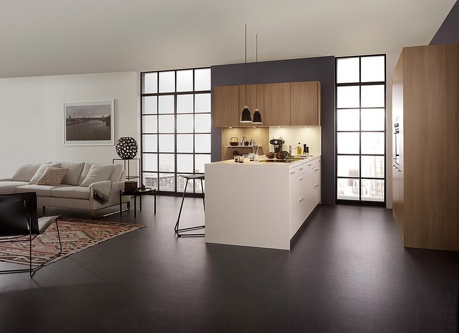 Minimalist design of the sophisticated modern kitchen