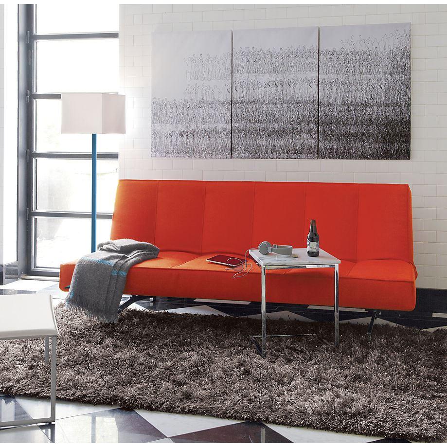Orange sleeper sofa from CB2