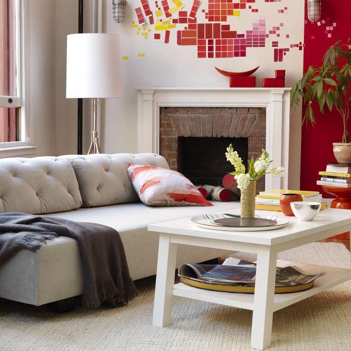 Radiant color in a modern living room