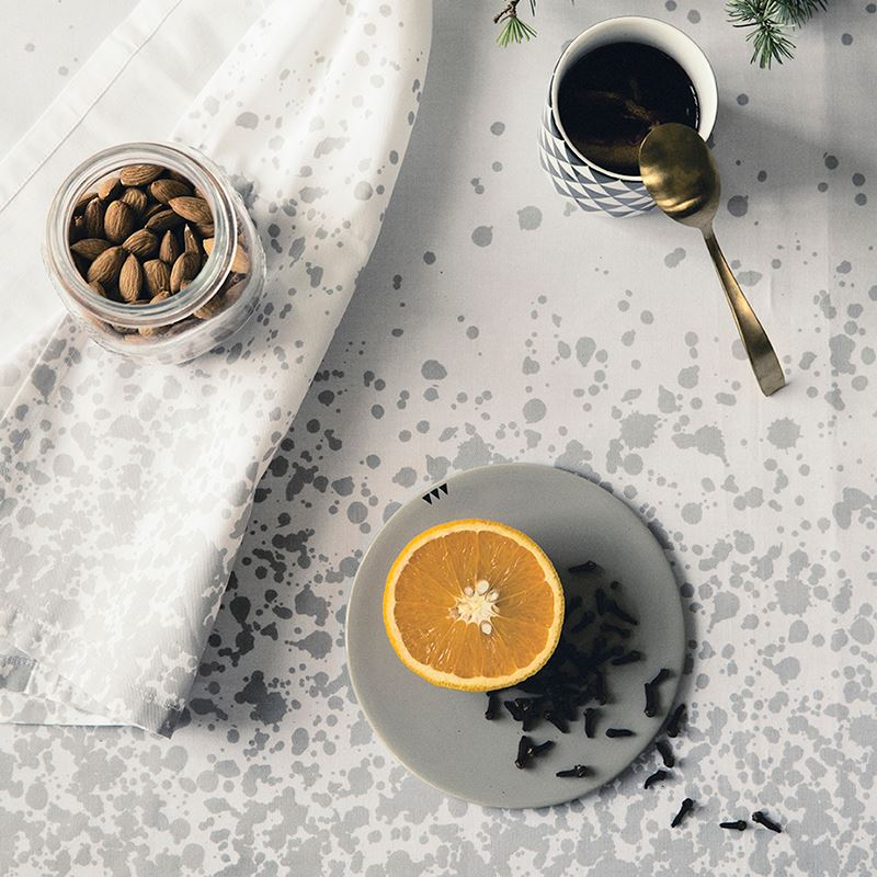Splatterd style on a tablecloth from Ferm Living