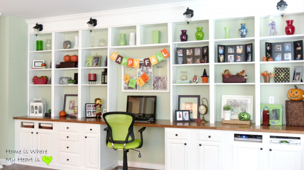 Bookcase with Built-In Desk