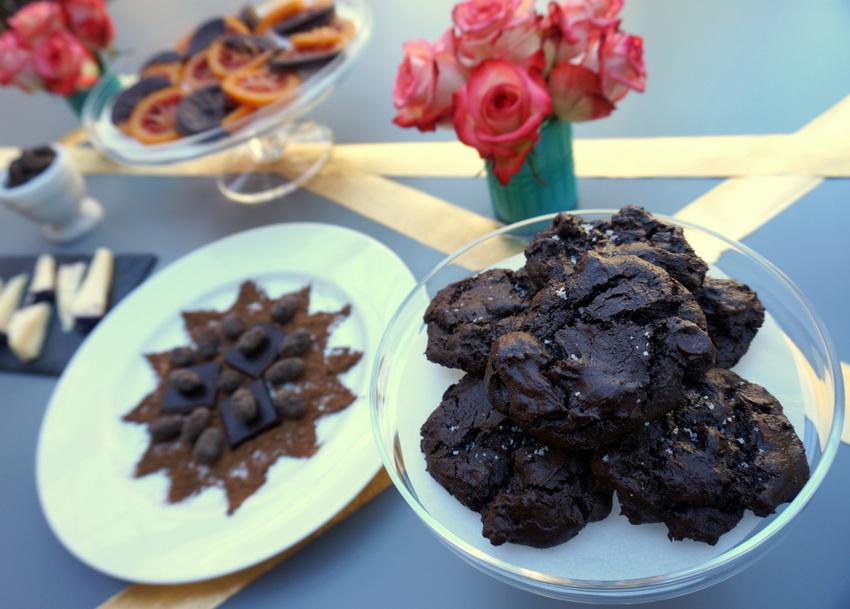Chocolate dessert buffet