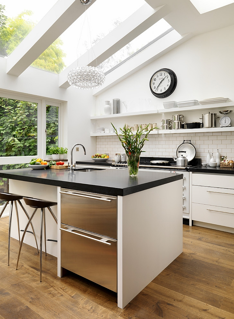 Exquisite bespoke kitchen design with skylights [Design: Roundhouse]