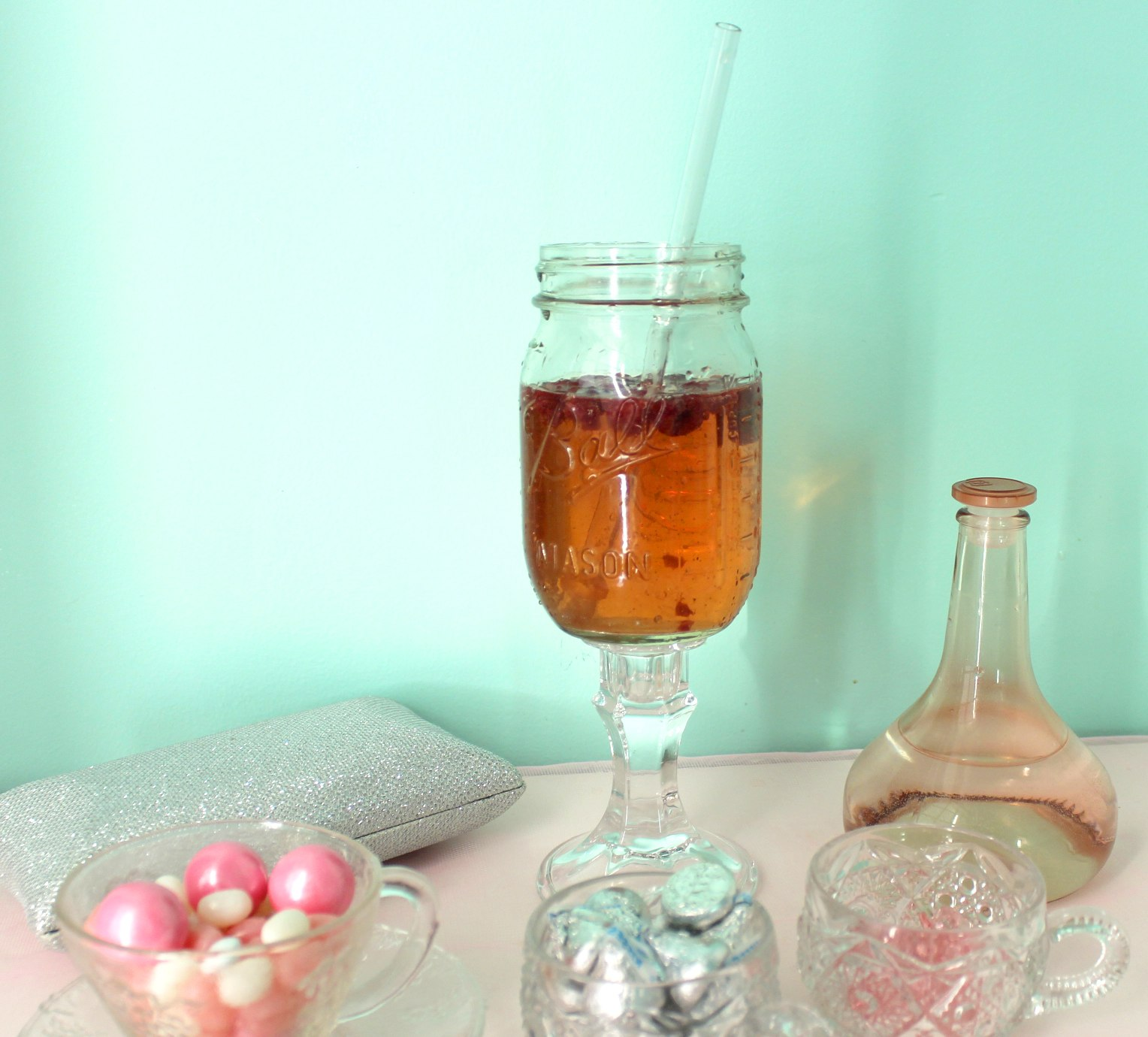 Mason Jar Wine Glass