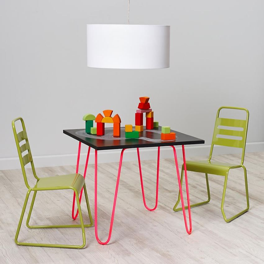 Neon table from The Land of Nod