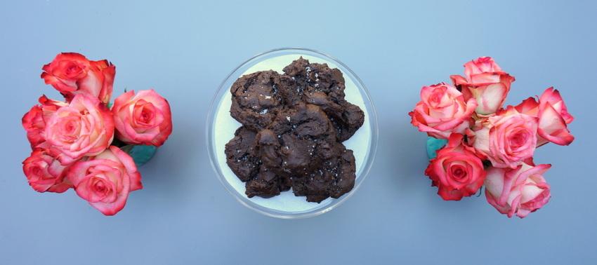 Olive oil sea salt chocolate cookies